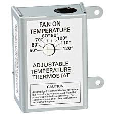 exhaust fan temperature switch shop air vent power roof vent thermostat at lowes com
