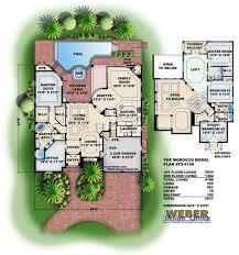 moroccan riad floor plan morocco house plan weber design group naples fl