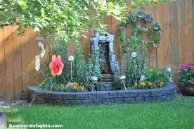 Home Depot Outdoor Decor Garden Delights Backyard Garden Decor Water Fountains Wind