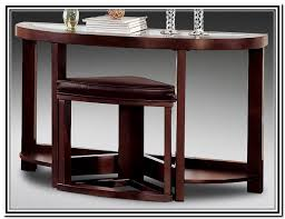 sofa table with stools underneath home design ideas