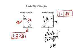 worksheet showme special right triangles kuta software special