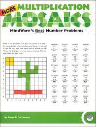 more multiplication math mosaics 033760 details rainbow