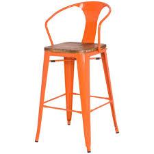 bar stools orange kitchen bar stools design white kitchen orange