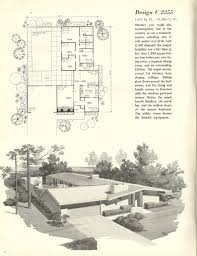garage house plan midcentury national plan n national plan service