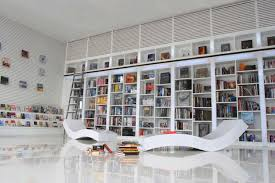 modern home library interior design view in home office modern white shelving and themes luxury home