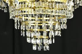 Antique Chandelier Art Deco Or Mid Century Modern Vintage Chandelier Crystal Prisms
