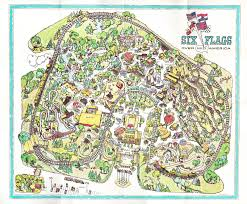 Six Flags Illinois Six Flags Great America Map 2006 On Usa World Maps