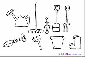 Innovative Ideas Tools Coloring Pages Terrific Vegetable Garden Tools Coloring Page