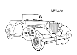 super car mp lafer coloring page for kids printable free