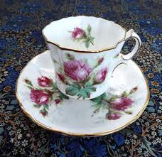 grandmother s bone china hammersley grandmother s teacup and saucer roses gold
