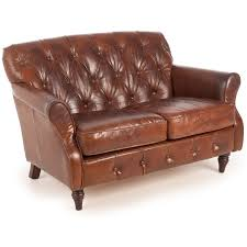 Antique Leather Sofa Vintage Leather Button Back 2 Seater Sofa U2013 Next Day Delivery