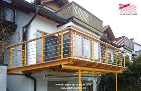 balkon alu stehblakon aluminium douglasie edelstahl glasboden handlauf
