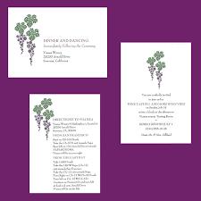 enclosure cards winery wedding enclosure cards etiquette wording sizing wine