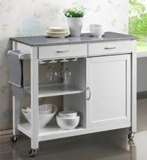 kitchen island trolley harrogate white painted hevea hardwood kitchen trolley island with