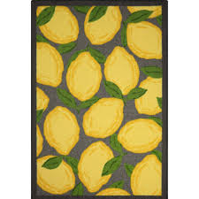 Yellow Kitchen Floor Mats by Kitchen Glamorous Lemon Kitchen Rug Small Lemon Yellow Area Rugs