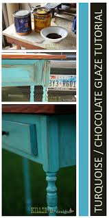 distressed turquoise with chocolate glaze ana white woodworking