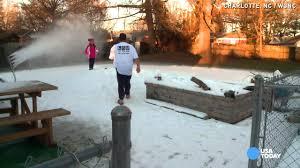 snow machine creates winter in s backyard