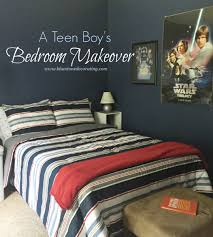 Teen Boy Bedroom by Teen Boy Bedroom Makeover Using Red White U0026 Navy Blue Bluestone