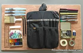 my tom bihn field sketching kit u2014 scratchmade journal