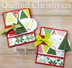 quilted christmas gift card holder idea patty u0027s stamping spot