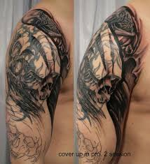 2 cover tribal skull by 2face tattoo on deviantart