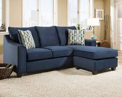 american freight dark blue sofa with accent pillows nile blue 2 pc sectional