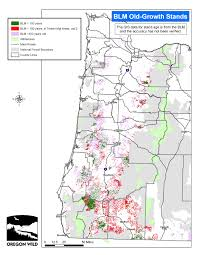 A Map Of Oregon by Here Is The Map Of The Blm Old Growth In The Wopr Democratic