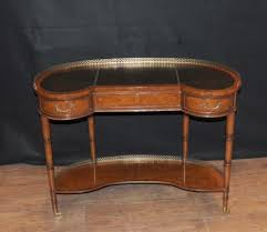Kidney Bean Desk Kidney Bean Desks Antique Mahogany English French Desk