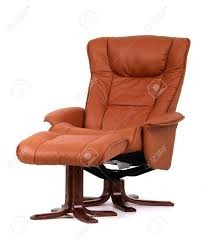 Brown Leather Recliner Chair Brown Leather Recliner Chair With Matching Footstool Perspective