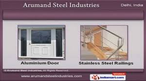 aluminium u0026 stainless steel products by arumand steel industries
