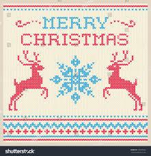 winter card scandinavian style knitted stock vector