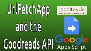 apps script custom function and the goodreads api with the