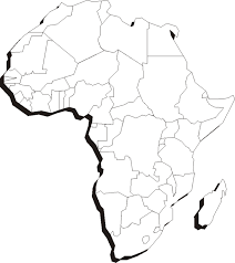 africa map drawing printable maps of the 7 continents