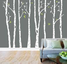 birch tree decor white birch tree wall decal decor ideas home designs insight