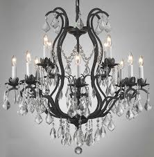 Black Chandelier Lighting by Amazing Black Wrought Iron Chandelier Lighting 130 Wrought Iron