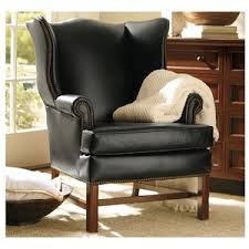 Leather Wingback Chair Pottery Barn Thatcher Leather Wingback Chair Polyvore