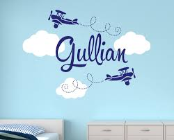 kids wall art stickers wall stickers for kids kids room wall customize name airplane large wall decals for boys bedroom kids room nursery wall art stickers baby