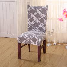 Dining Seat Covers Aliexpress Com Buy Polyester Spandex Chair Covers Gray Stripes