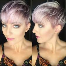 women u0027s messy icy pink textured pixie with feathered bangs short