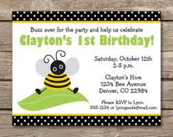 bee invite etsy