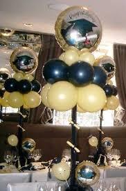 balloon arrangements for graduation balloon centerpiece blue white balloon