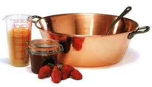 ustensile de cuisine en cuivre cuivre bassine à confiture d40 ép 2mm 12 l la casserolerie
