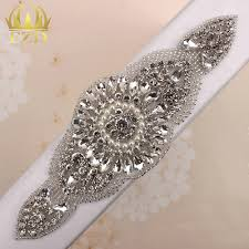 popular crystal trimming buy cheap crystal trimming lots from 30 pieces clear rhinestones applique for wedding dresses beaded trim crystal sew on garment embellishments patches