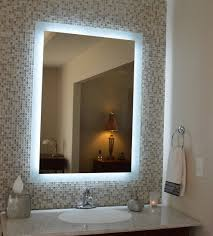 Bathroom Wall Mirror by Lighted Bathroom Wall Mirror Shapes Impressive Lighted Bathroom
