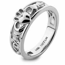 rings gold white images Gold claddagh ring ulg 6157w in 14k white gold jpg