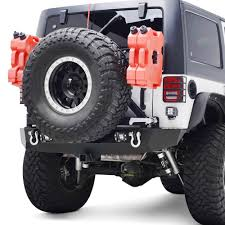jeep rear bumper with tire carrier paramount rock crawler full width rear hd bumper with tire carrier