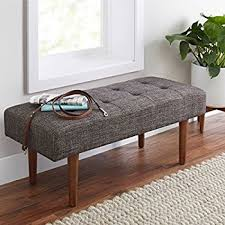 Contemporary Upholstered Bench Amazon Com Better Homes And Gardens Flynn Mid Century Modern