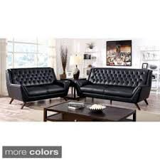 Century Leather Sofa Faux Leather Mid Century Living Room Furniture For Less
