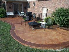 Concrete Backyard Patio by How To Paint Concrete To Look Like Wood Stained Concrete Wood