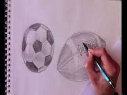 how to draw football real time sketch real easy youtube
